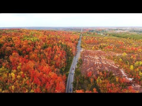 Fall Foliage Aerial Video @ Cheltenham Badlands, Caledon, Ontario, CANADA
