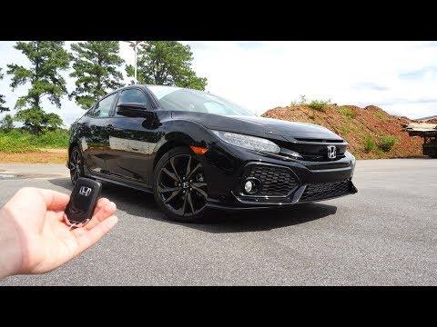2018 Honda Civic Hatchback Sport Touring: Start Up, Walkaround, Test Drive and Review