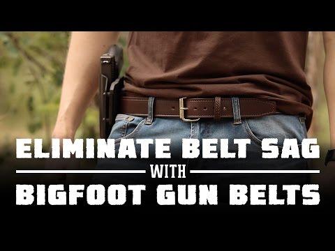 Best Gun Holster Belt With No Belt Sag | Bigfoot Gun Belts