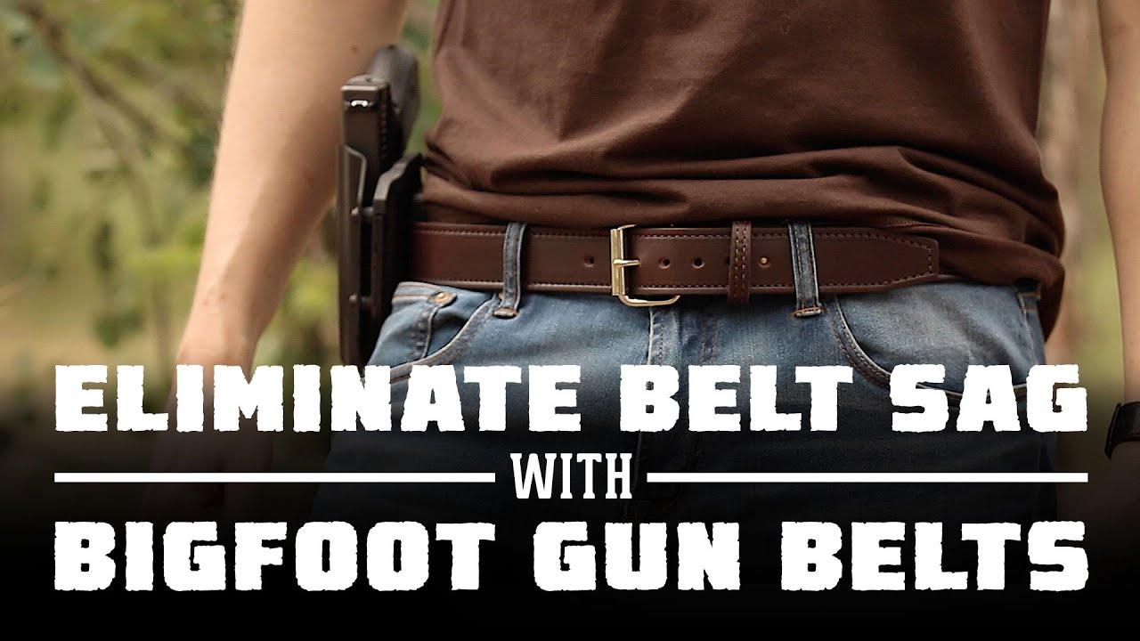 Best Gun Holster Belt With No Belt Sag   Bigfoot Gun Belts