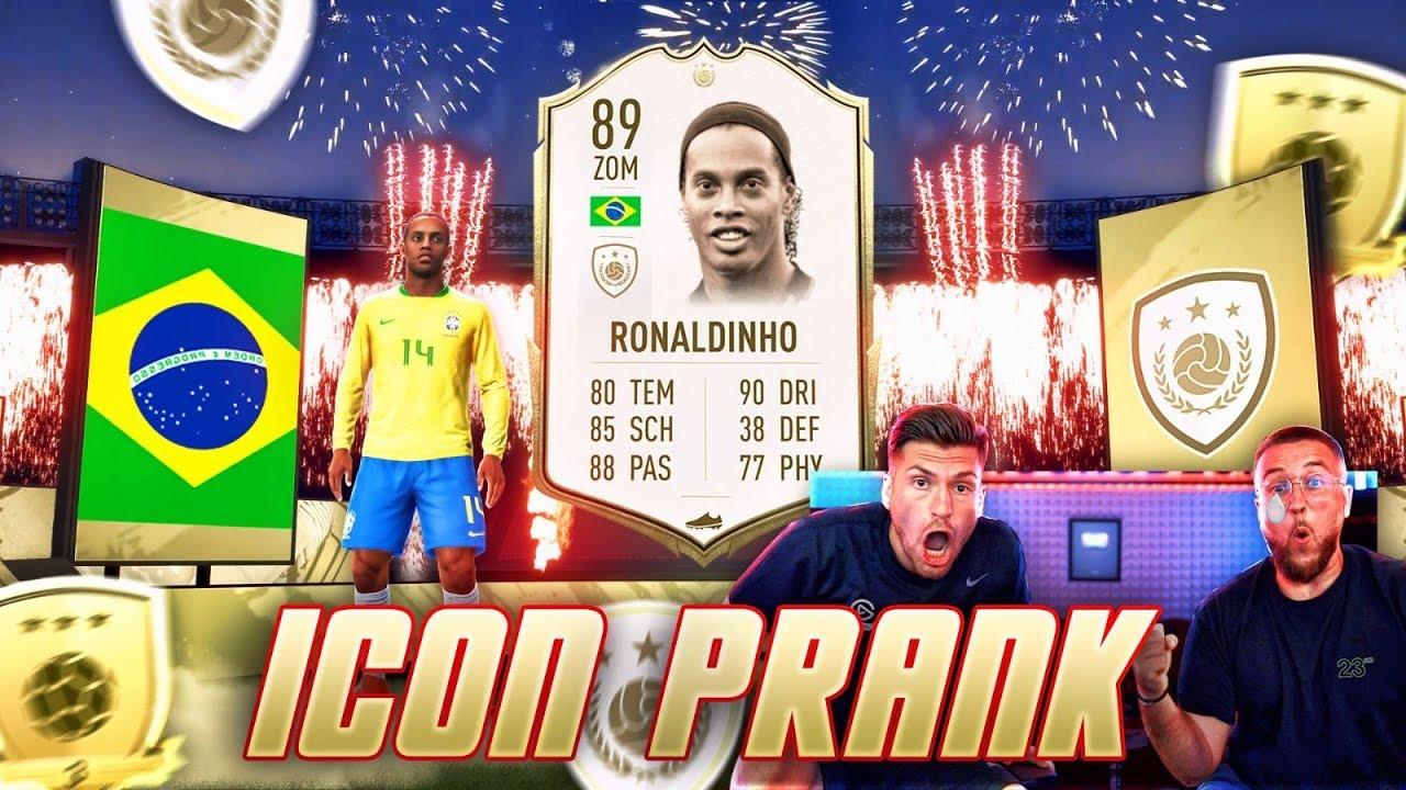 FIFA 20: ICON RONALDINHO in GOLD 3 Rewards PRANK 😂😱 ICH hab alle Verarscht .. !! thumbnail