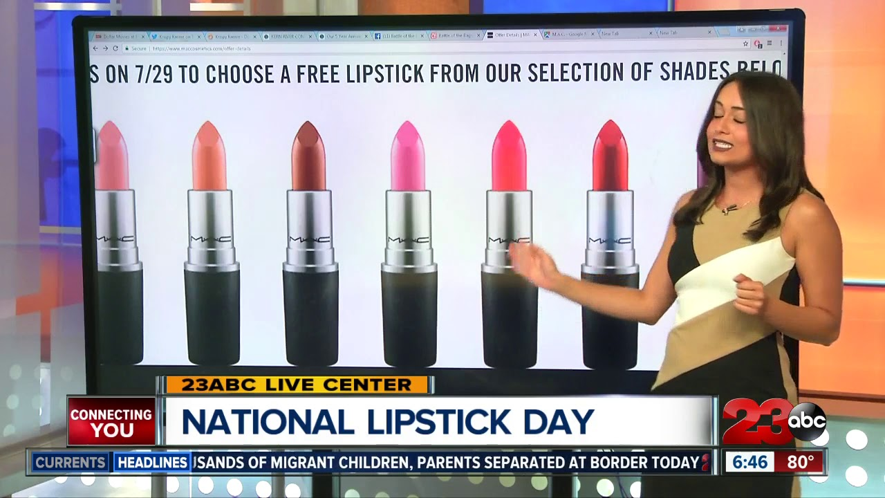 MAC Cosmetics giving away free lipstick on National Lipstick Day!