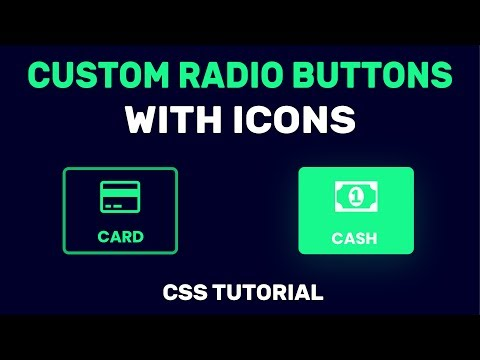 CSS Custom Radio Button With Icon | Styling Radio Buttons With CSS | CSS Tutorial