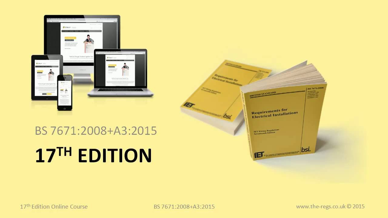 Introduction To The City Guilds 2382 15 17th Edition Online Course Iet Wiring Regulations Book 3
