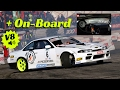 Nissan Silvia S14 powered by Chevy LS3 V8 engine - On-Board & Drifting!