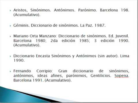 Diccionario con sinonimos antonimos y significados