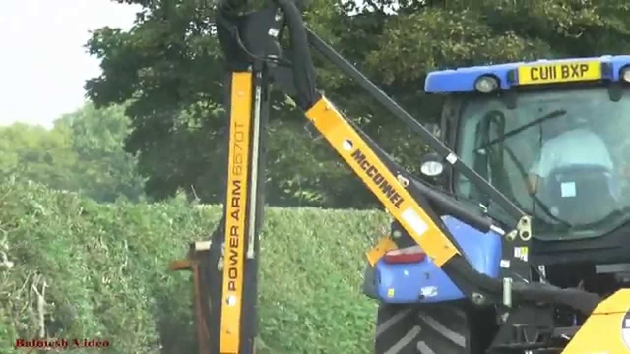 Hedge Cutting With Two New Holland Tractors The Girls Look On