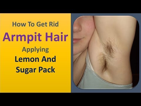 how to get rid armpit hair applying Lemon and sugar pack
