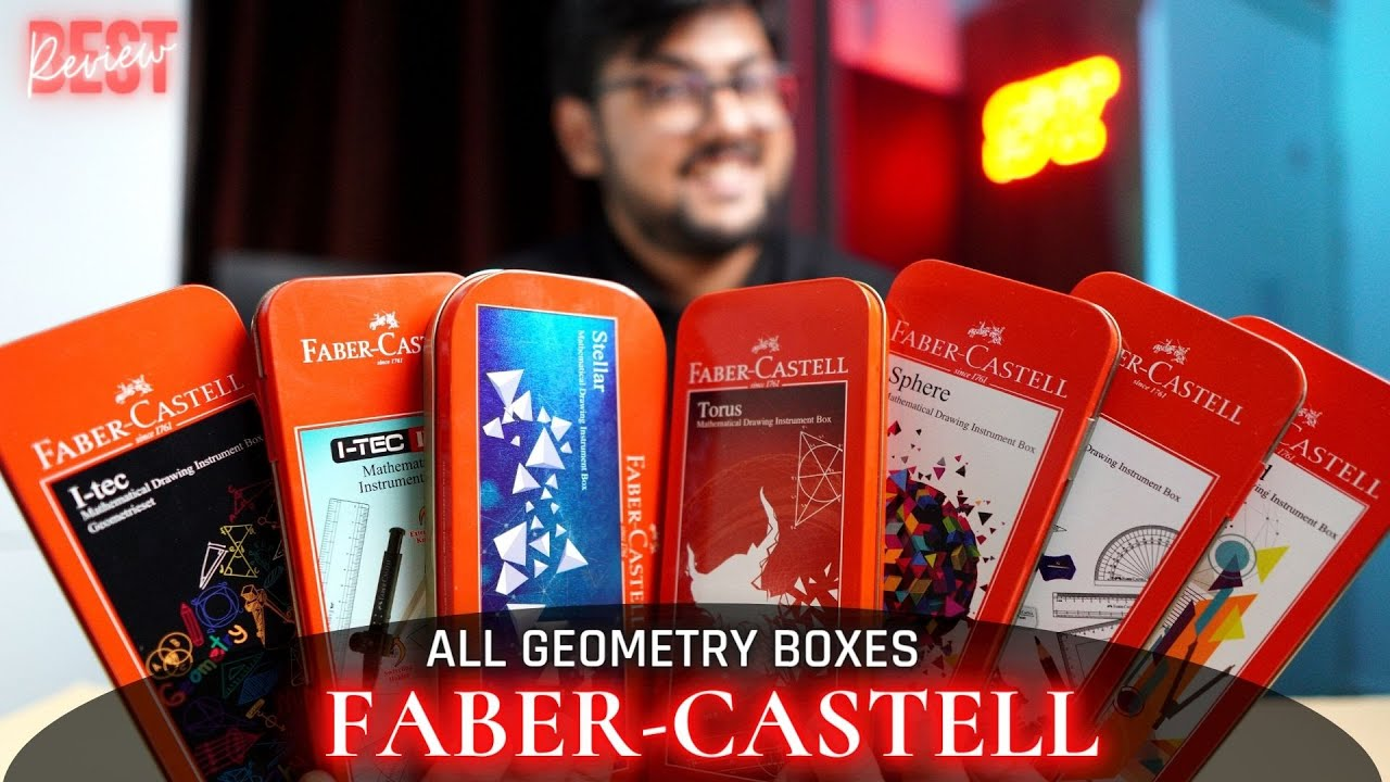 Best Faber Castell Geometry box in India |All Boxes -Mega Comparison 🔥🔥