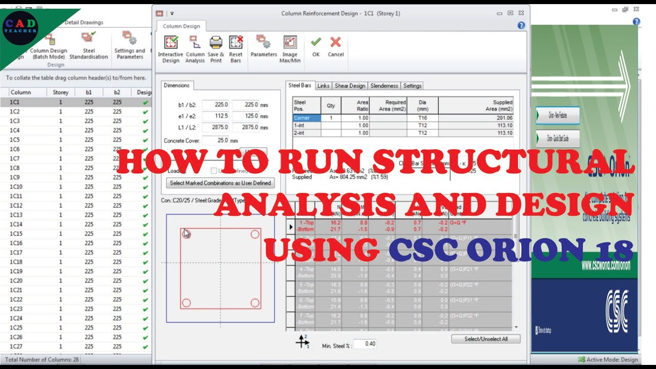 Download ORION 18 TUTORIAL: HOW TO RUN ANALYSIS AND DESIGN OF STRUCTURAL BUILDINGS