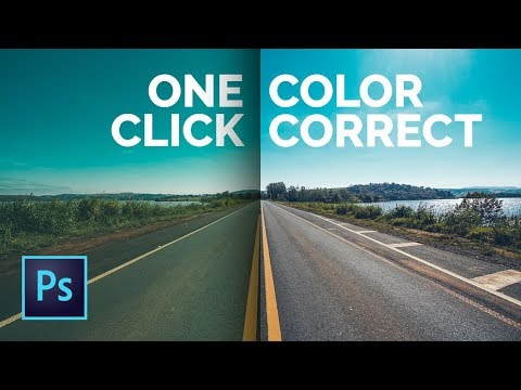 How to Color Correct with One Click in Photoshop