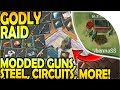 GODLY RAID Full of FULLY MODDED GUNS, STEEL, CIRCUITS, MORE- Last Day on Earth Survival Update 1.9.8