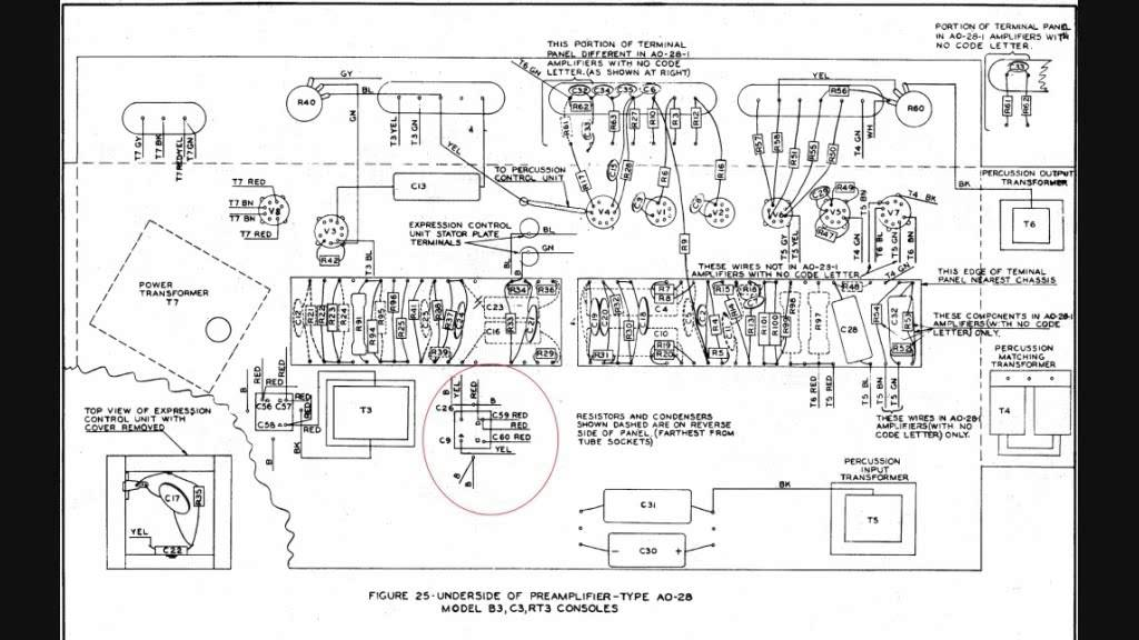 Hammond Rt3 Organ Schematic Diagrams. Hammond Organ