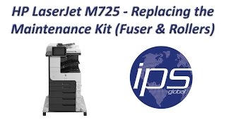 HP LaserJet M725 - Replacing the Maintenance Kit (including Fuser & Rollers)(, 2015-04-17T18:07:23.000Z)