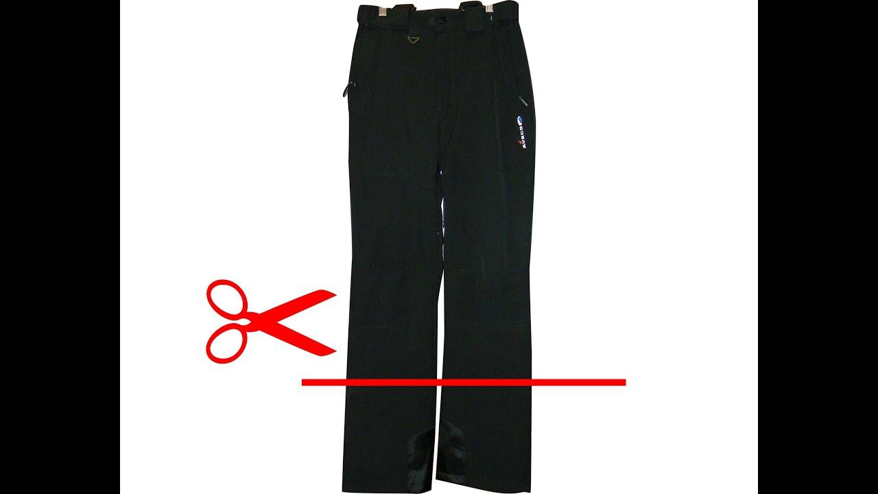 Как сшить брюки без выкройки (по старым брюкам) - YouTube