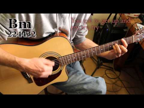 Try (Pink),  Acoustic guitar tutorial / cover with chords, tips and lyrics