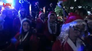 شاهد.. إضاءة شجرة عيد الميلاد بلبنان