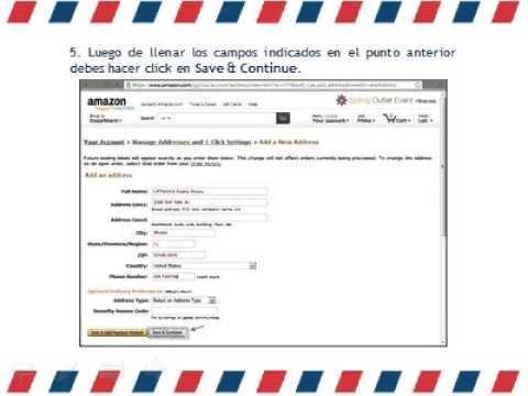 ¿Como registro mi dirección de envío (Shipping Address) en Amazon.com?