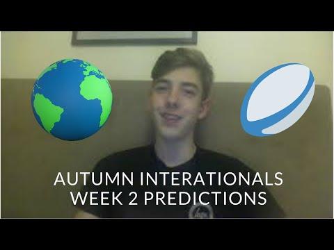 Autumn Internationals Week 2 - Predictions