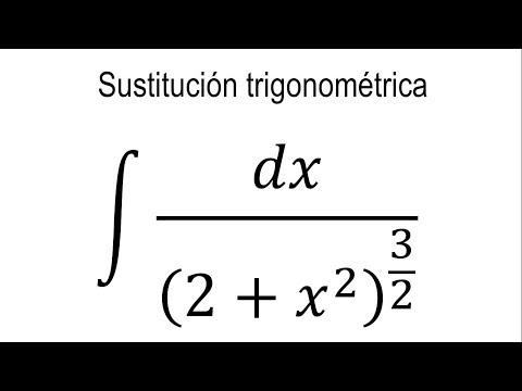 Integrales por sustitución trigonométrica | Ejemplo 4