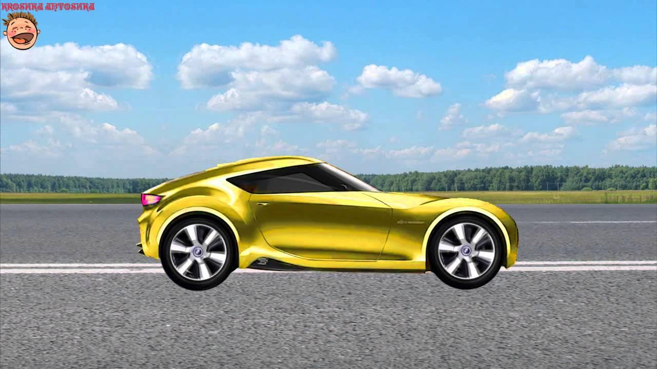Машинки. Желтая гоночная машина МУЛЬТИК-Конструктор для ...