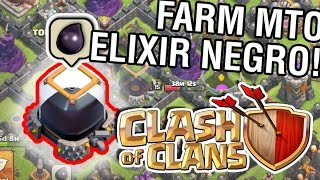 CLASH OF CLANS - Farmando MUITO Elixir Negro!