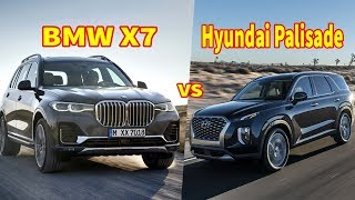 2020 hyundai palisade vs 2019 bmw x7   Big SUV doesn