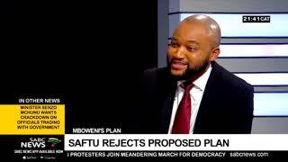 SAFTU also rejects Mboweni's economic strategy: Zwelinzima Vavi
