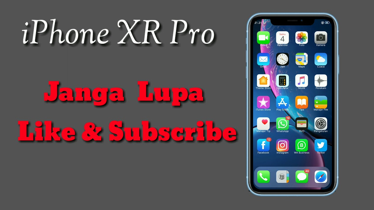 Theme iPhone XR Pro For Realme Device By Ikhsan Official