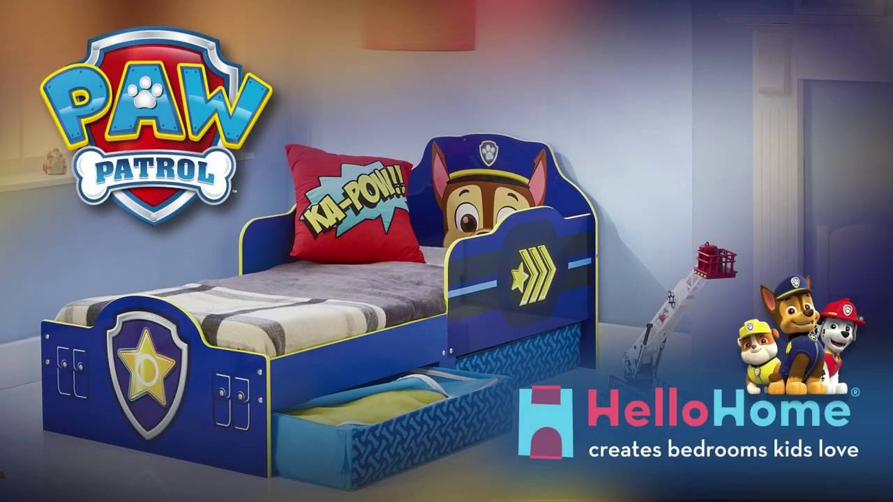 Paw patrol chase toddler bed by hellohome youtube for Beds 4 u ottery
