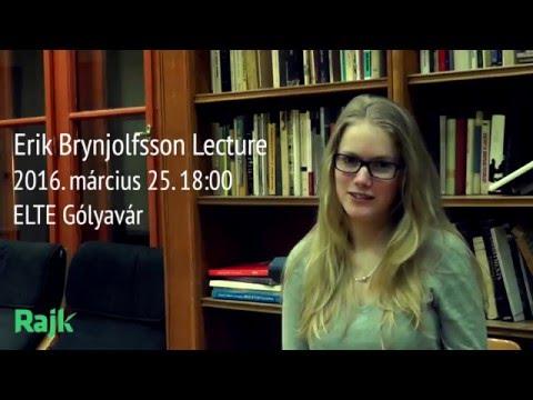 Erik Brynjolfsson Lecture - Rajk László Szakkollégium