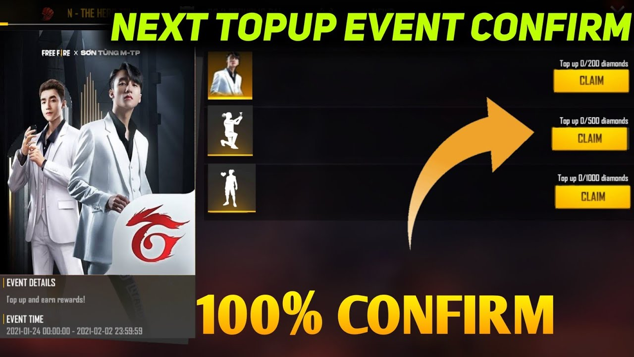 Free Fire New Topup Event| Free Fire Next Topup Event| Free Fire New Event|