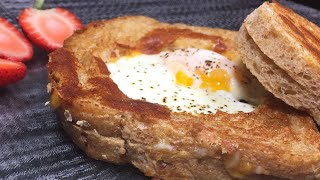 Egg-in-a-hole Grilled Cheese | Delicious Breakfast ideas