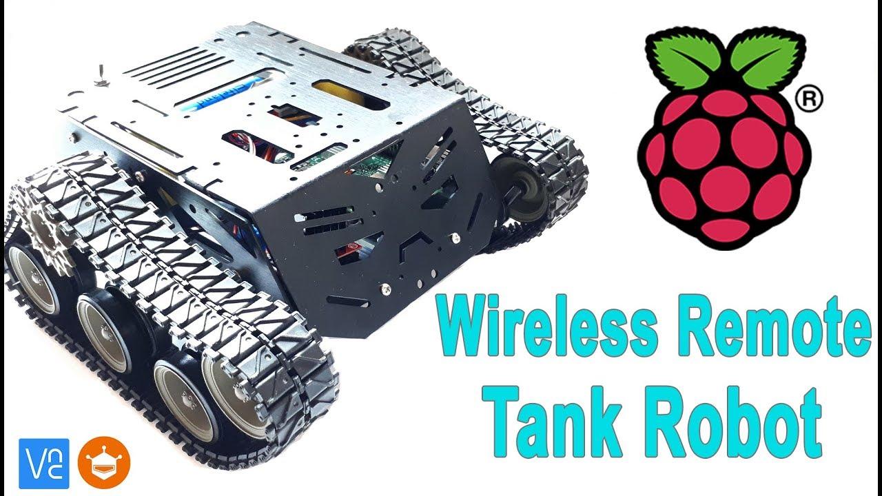 How To Make Wireless Control Raspberry Pi Tank | Mert Arduino