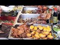 Asian Street Food - Fast Food Street in Asia, Cambodian food #115, Rice With Pork Chicken Fish