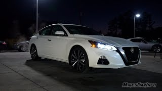 AT NIGHT: 2019 Nissan Altima Interior and Exterior Lighting Overview