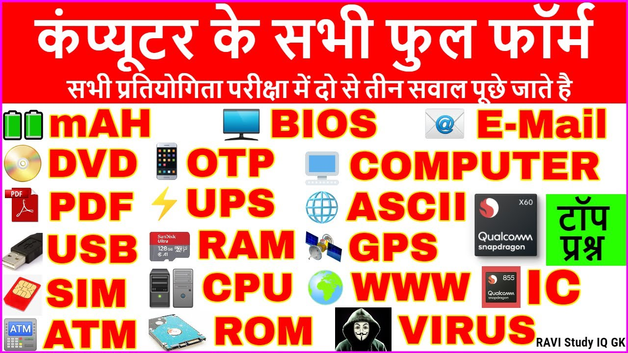 Computer Important Full Form | Computer Full Form Questions | Computer Gk in Hindi | Computer Tricks