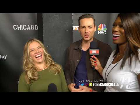 Jesse Lee Soffer & Tracy Spiridakos Joke With Nekia Nichelle On OneChicagoDay Red Carpet