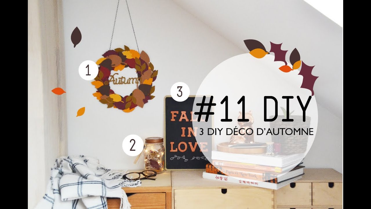 11 diy 3 diy d co d 39 automne youtube. Black Bedroom Furniture Sets. Home Design Ideas
