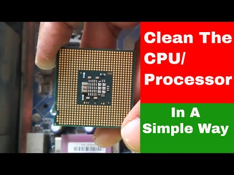 How To Clean The CPU/clean thermal paste off of a CPU/CPU Fan//Heat sink//Technical NVN 99