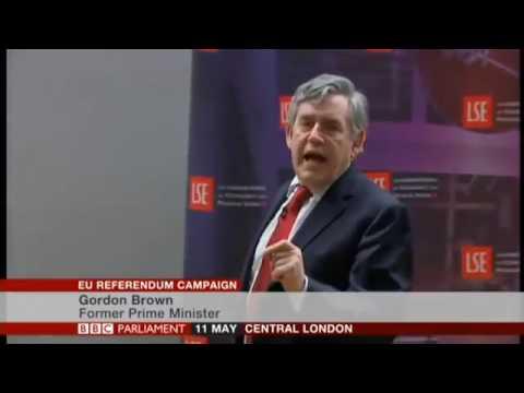 Gordon Brown's barnstorming EU Referendum lecture at LSE.