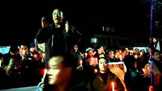 Karmapa Candle light procession in Gangtok
