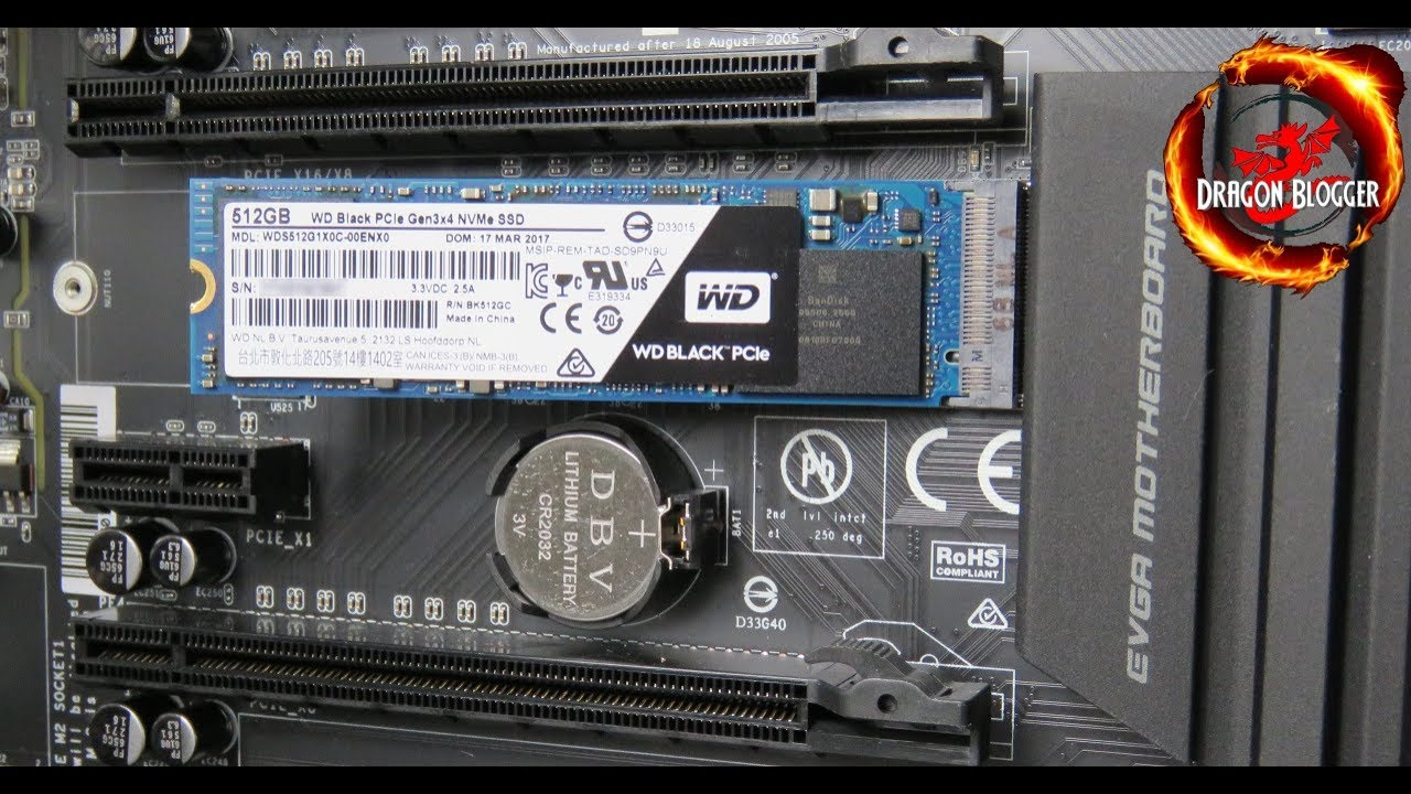 How to install the 512GB WD Black PCI-e M 2 NVMe SSD WDS512G1X0C