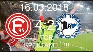 Fortuna Düsseldorf - Arminia Bielefeld (4:2)|16.03.2018|WECHSELBAD DER GEFÜHLE BEIM TOR SPEKTAKEL !!