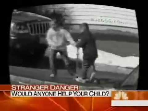 Bystander Effect - people watch girl being abducted