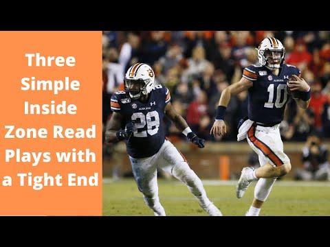 Three Simple Inside Zone Read Plays with a Tight End