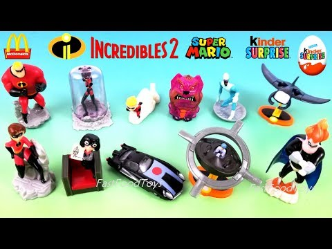 2018 INCREDIBLES 2 McDONALD'S HAPPY MEAL TOYS KINDER SURPRISE EGGS THE INCREDIBLES FULL SET 11 2004