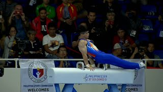 Carlos Yulo's Majestic Pommel Horse Routine Got Him His Third Medal | 2019 Sea Games