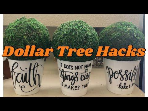 Dollar Tree DIY Farmhouse Decor: Easy Inexpensive Shabby Chic Do It Yourself Home Decor