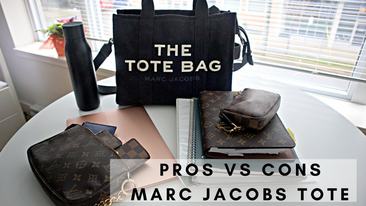 MARC JACOBS SMALL TRAVELER TOTE | WHAT FITS & PROS VS CONS